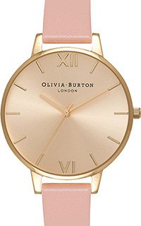 Olivia Burton Big Dial Dusty Pink and Gold Watch