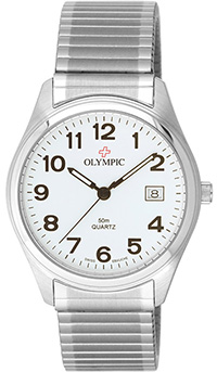 Olympic Gents Steel Classic Watch White dial