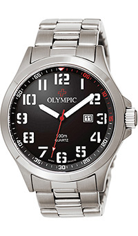 Olympic Gents Sports Watch with Black Dial