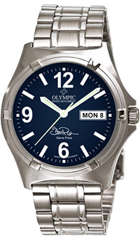 Olympic Mens Work Watch Steve Price Signature Blue Dial