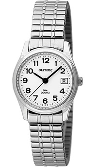 Olympic Ladies Steel Watch and Expanding Bracelet