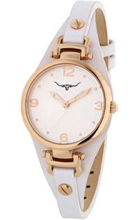 (RETIRED) Erina Watch Rose Gold Plated with White Leather