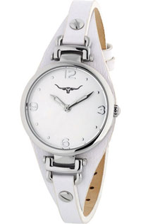 (RETIRED) Erina Watch Stainless Steel with White Leather