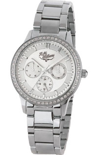 Kydra Multi Dial Watch Stainless Steel Cubic Zirconia