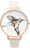 Olivia Burton Animal Motif Hummingbird Mink and Rose Gold Watch