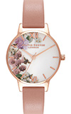 Olivia Burton Enchanted Garden Dusty Pink & Rose Gold Watch