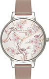 Parlour Blossom Birds Iced Coffee, Silver & Rose Gold Watch