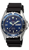 Olympic Mens 200m Divers Watch Blue Dial