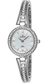 Olympic Ladies IPS Plated Stone Set Watch Mother Of Pearl Dial