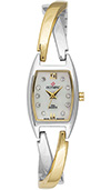 Olympic Ladies Two Tone Watch with Cross Over Bracelet