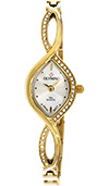 Olympic Ladies Gold Plated Stainless Steel Watch Stone Set Case