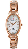 Olympic Ladies Rose Gold On Steel Watch Mother Of Pearl Dial