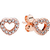 PANDORA Rose Captured Hearts Stud Earrings (NEW)