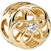 PANDORA 14ct Gold Loving Bloom Openwork Charm