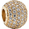PANDORA Rounded Pavé Cubic Zirconia 14ct Gold Charm