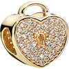 PANDORA 14ct Gold Heart Lock Charm