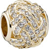 PANDORA 14ct Gold Sparkling Love Knot Charm