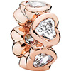 PANDORA Rose Sparkling Hearts Spacer (NEW)