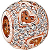 PANDORA Rose Tumbling Hearts Openwork Charm (NEW)