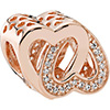 PANDORA Rose Sparkling Love Knot Charm (NEW)
