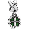 PANDORA Silver Bead Four Leaf Clover with Green Enamel
