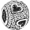 PANDORA Pave Ball and cut Out Hearts Charm