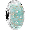 PANDORA Mint Glitter Murano Glass Charm (NEW)