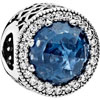 PANDORA Moonlight Blue Radiant Hearts Openwork Charm
