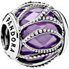 PANDORA Purple Intertwining Radiance Charm