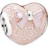 PANDORA Pink Land and Bow Charm