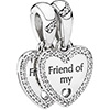 PANDORA Friend Of My Heart Hanging Charm (NEW)